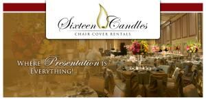 Sixteen Candles Chair Cover Rentals, Columbia — www.sixteencandleschaircovers.com