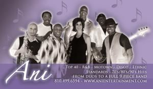 Ani Band, Bloomfield Hills — Ani Band Group Photo - Band size ranges from 3 piece to 9 piece, depending on event/budget/etc.