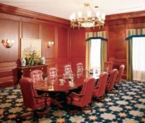 Stonington Boardroom, Disney's Yacht & Beach Club Resorts, Orlando — Executive meetings are perfectly accommodated in the elegant Stonington Boardroom, which offers a permanent conference table and high-back leather chairs for up to 14.