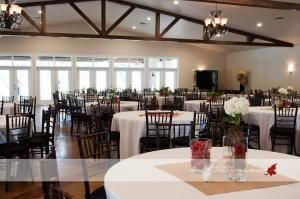 Banquet Room, The Orchard, Azle — 7700 s.f. event space.  Seating for up to 400 guests.  Chiavari chairs with every package.  Floor length linens provided at no additional cost.  Secluded venue with dressing rooms, prep kitchen, granite topped bar, covered outdoor space for optional ceremony site.