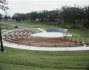 Outdoor Amphitheater, Camp Loughridge, Tulsa — The Outdoor Amphitheater is set in a natural outdoor environment and would be an ideal setting for an outdoor concert or event.