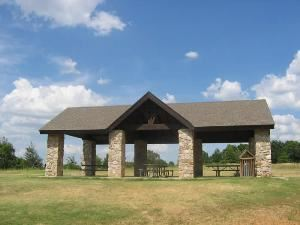 Ball Diamond & Shane's Place Picnic Pavilion, Camp Loughridge, Tulsa — The Ball Diamond softball/baseball field