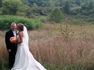 Wedding Photography Package with Album, Eric Rice Photography, Kalamazoo — Bride & Groom in field