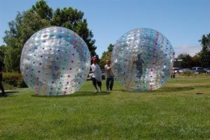 Birthday Party Package - Human Hamster Ball, Games All Out, Vacaville — Giant Human Hamster Ball Races