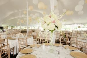 AAble Rental Co,, Euclid — Twin Peak pole tent wedding.