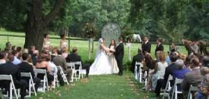 Outdoor Ceremony, Sweetwater Farm, Glen Mills