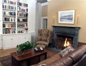 Den, Sweetwater Farm, Glen Mills — Cozy, comfortable, warm and inviting... our den is a wonderful spot to read, watch a fire or have a private conversation.