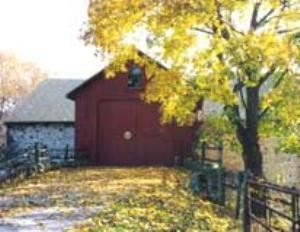 Barn, Sweetwater Farm, Glen Mills — Our red barn looks like a Wyeth painting in the changing seasons.