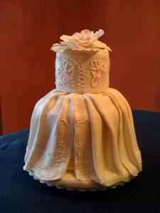 "Tiers of Joy, Ludlow — ""The Dress!"" - Elegant design for an intimate wedding or a bridal shower."