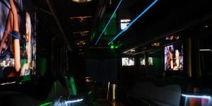 Ultimate Party Bus, Tampa — With a capacity of 45 passengers, the Ultimate Party Bus delivers the luxury and excitement of a limousine on a much bigger scale.