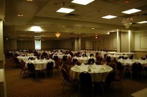 Meeting Rentals starting at $500, Clarion Hotel Lexington Conference Center, Lexington — Our Triple Crown Ball Room can accommodate up to 300 people for all of your food and beverage needs. Our sales and catering staff will work with your budget to make sure your reunion is a complete success.