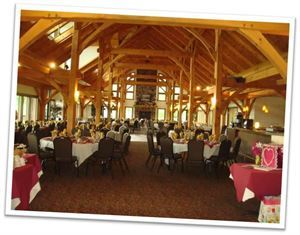 Wedding Package 2, Hidden Valley Animal Adventure, Varysburg — The Lodge full room view