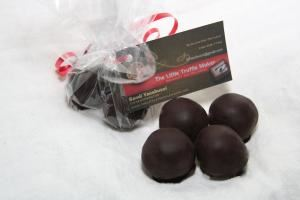 The Little Truffle Maker, Burlington — Cellophane pack of 4 homemade truffles--can be ordered in a variety of flavors.  All my truffles are handmade and contain only 3 ingredients, fresh cream, semi sweet chocolate and real liqueur.  