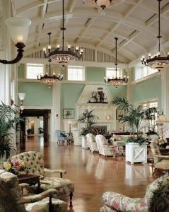 Promenade Lobby, Disney's BoardWalk Inn, Orlando — Upon arrival, enter the fantasy and elegance of a 1920's lobby.