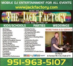 Jack Factory DJ Entertainment, Riverside