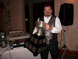 1st Choice DJ Service, Montoursville — DJ Scott with the Calder Cup.