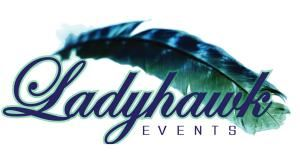 Ladyhawk Events, Cincinnati — Our logo, designed by us for us!