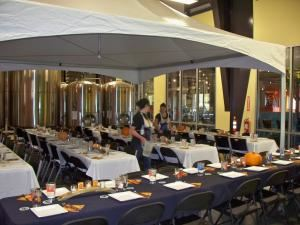 Community Room, Fort Collins Brewery, Fort Collins — Inside the brewery Event! 20X20 Peak Tent with full decorations and catered by Gravity Ten Twenty