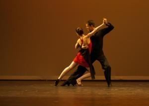 Swing & Sway Dancing, Rockland — Christian Clayton & Kea Tesseyman performing a sexy Tango at a Pro/Am dance showcase.