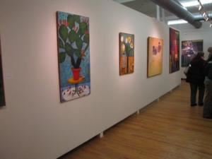 SoHa Arts Building, Oaklyn — Gallery Space during Winter 2011 Event
