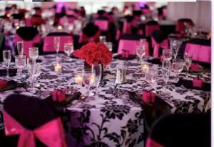 Classy Linens and Chair Covers, Deer Park — Classy chair covers in ten colors $1.00-$3.00, Sashes .50-$2.00.