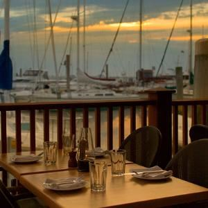 Harborview Patio, The Mooring Restaurant, Newport