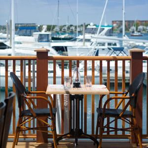 Harborview Room Deck, The Mooring Restaurant, Newport
