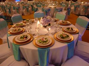 Saturday 10 Hour Wedding Package with Catering Options, Morrow Center, Morrow — Catering Close up table