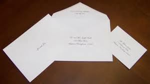 DIGITAL CALLIGRAPHY ENVELOPE ADDRESSING FOR OUTER ENVELOPE ONLY - $0.75 EACH , D's Party Designs & Graphics Services, Fredericksburg