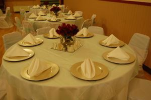 Gold Reception Rental Package, Gold Standard Events, Strathmore