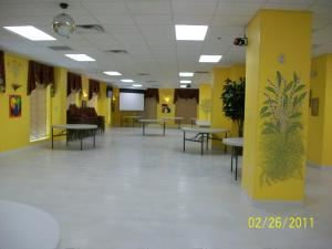 201-B & C: Yellow Sunshine Room, Azales Event Facility, Fayetteville — 3000 sq. ft with 150 people capacity