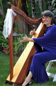 Magical Harps by Amy Lynn Kanner, San Diego — This is a beautiful setting for a wedding! I have a portable battery-powered amplifier which is perfect for outdoor weddings and special events. I always decorate my harp with a bow, to create an added touch of elegance.