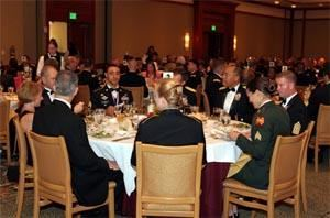 Magnolia Ballroom, Shades of Green, Orlando — Distinguished guests at a formal banquet followed by an Awards Ceremony.