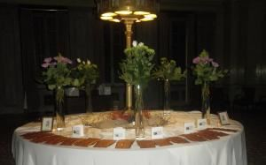 Black Bag Productions, Laurel — The favor table - wedding reception, Philadelphia, PA - February 2012
