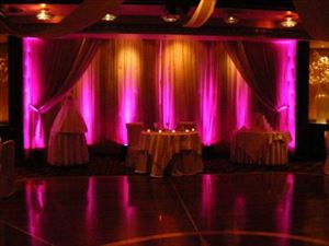 Up Lighting / Event Lighting Rental, Jessica's Platinum Weddings  & Events, Alfred — uplighting example