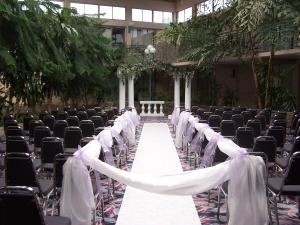 Terrace  C, Holiday Inn Fresno Airport, Fresno — Terrace C is the perfect spot for your Wedding Ceremony which is located in our scentic indoor atrium.
