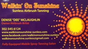 Walkin' On Sunshine Sunless(Mobile) Airbrush Spray Tanning, Wilmington — We provide custom blended spray tanning for any event, at your desired location!