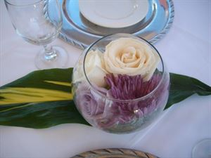 Casual Centerpiece Only (2 Flower Type) Event Package, Beautiful Blooms by Larry, Carlsbad