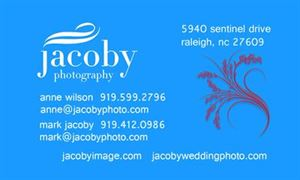 4 Hour Package, Jacoby Photography, Raleigh — Our Business Card