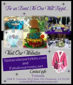 Fabulessevents Spa-tacular Party Kits, Pasadena — Collage of some of our work.....just FABULESS!!!