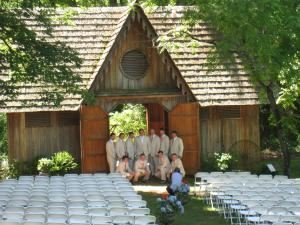 Carriage House, Woodburn Historic House - Pendleton Historic Foundation, Pendleton — Wedding set-up at Carriage house...seating for 400 guests