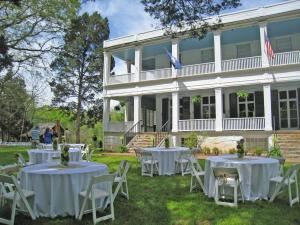 Basic Rental Package (150 to 200 Guests), Woodburn Historic House - Pendleton Historic Foundation, Pendleton — Reception on front lawn on a lovely spring day.