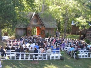 Basic Rental Package (200 to 250 Guests), Woodburn Historic House - Pendleton Historic Foundation, Pendleton — Wedding Ceremony a Victorian carriage house.  This outdoor venue can support up to 400 guests without difficulty.