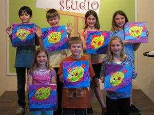 Kids Birthday Party, the pARTy studio, Columbus — Petite Picaso's