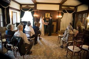 Simple & Sweet Ceremony Packages Starting at $600, Gramercy Mansion Bed & Breakfast, Stevenson — Living Room elopement