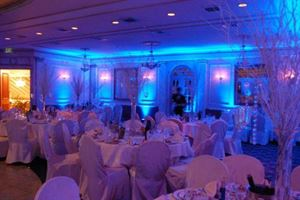 Platinum Wedding Presentation, BeDazzled Entertainment - Disc Jockeys, Dallas — ADD ON...Create the perfect atmoshpere with uplighting.  You can place units around the room to splash extra color onto the walls and/or tables.  Pricing for 8 units is $280 for the event.