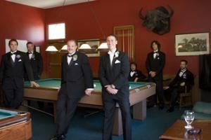 Private Room, Riviera Mansion, Santa Barbara — Billards room, where groom and groomsmen can relax before the big day.