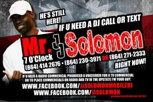 JJ SOLOMON MR7OCLOCK can DJ OR HOST YOUR PARTY OR CLUB NIGHT, Greenwood — need a dj. get a name you have heard before. seen before and now is ready to serve your mobile dj needs.  http://www.facebook.com/jjsolomonmobiledj  call (864) 414 2676 or (864) 271-2333