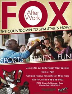 Corporate Happy Hour!, Fox and Hound, Chesterfield — Corporate Happy Hour