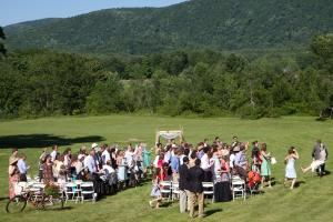 Deluxe Green Wedding Weekend Package, Common Ground Center, Starksboro — Outdoor ceremonies are popular at Common Ground Center!